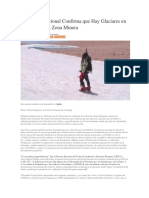 Autoridad Nacional Confirma Que Hay Glaciares en El Famatina en Zona Minera