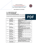 OJT Daily Accomplishment Report Clarisse .Docx Filename UTF-8 OJT Daily Accomplishment Report Clarisse