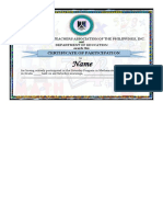 Sample Certificate Mtap