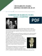 Gobierno de Isabelita Maria Estela Martinez Muerte de Juan Peron