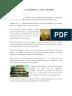 Historia Del Concreto en El Mundo y en El Peru