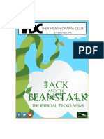 Jack and the Beanstalk (IHDC Panto 2017 Programme)