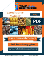 Daily Commodity Prediction Report by TradeIndia Research 17-10-2017