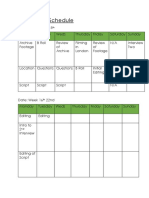 production schedule final