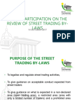 street trading by- law presentation 14 october