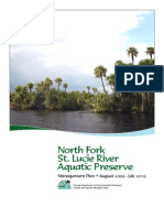 North Fork of St. Lucie River Aquatic Preseve Management Plan