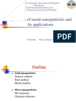 Synthesis of Metal Nanoparticles and Their Applications