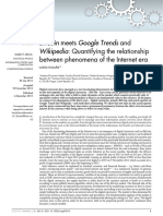 BitCoin meets Google Trends and Wikipedia
