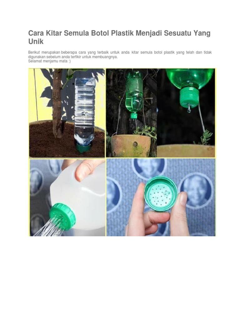 Cara Kitar Semula Botol Plastik Menjadi Sesuatu Yang Unik Docx