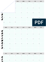 Calendario para preencher