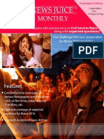 NewsJuice Monthly September Edition Shubham's IAS Chandigarh
