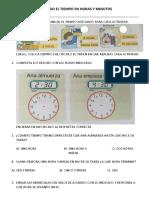 17-08-17-Hoja de Practica-mat-medimos El Tiempo Horas y Minutos