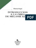 Segal Hanna - Introduccion a La Obra de Melanie Klein