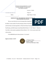 Oct. 13 Order Denying Post-Petition Financing