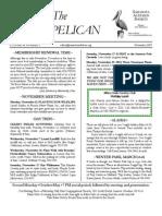 November 2007 Brown Pelican Sarasota Audubon Society