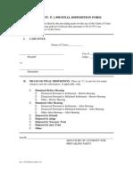 Fla. R. Civ. P. 1.998 Final Disposition Form