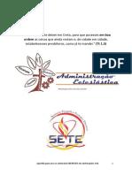 Administraçãoi Eclesiastica Seminario EBENEZER 2017