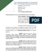 Presenta Informe Oral