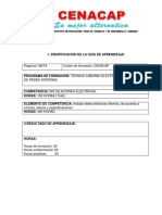 GUIA de APRENDIZAJE -Teccnico de Instlaciondes Electricas