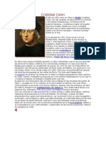 Cristóbal Colón Biografia