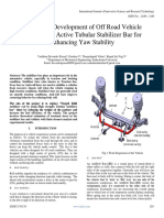 Design and Development of Off Road Vehicle Handling by Active Tubular Stabilizer Bar for Enhancing Yaw Stability