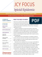 The Opioid Epidemic | Policy Focus