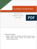 Sumber Pembiayaan I dan II Manajemen Pajak