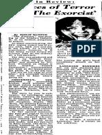 The Exorcist Review (1973) | Phillip Wuntch, DMN critic