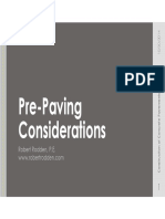 Pre-Paving Considerations