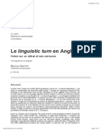 Le Linguistic Turn en Angleterre
