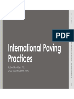 International Paving Practices