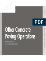 Other Concrete Paving Operations