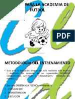 Manual Para La Academia de Futbol