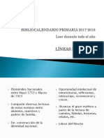 Bibliocalendario Primaria 2017-2018