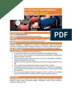 Diplomado Gestión de Mantenimiento Industrial