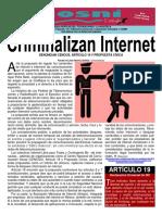 Kgosni 150-Criminalizan Internet