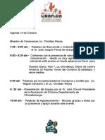 Agenda Conferencia de Prensa 13 Octubre