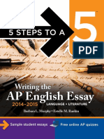 (5 Steps to a 5 on the Advanced Placement Examinations) Murphy, Barbara L._ Rankin, Estelle M-Writing the AP English Essay 2014-2015-McGraw-Hill Education (2013)
