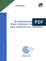 Recomendaciones Buen Gobierno Empresas No Cotizadas