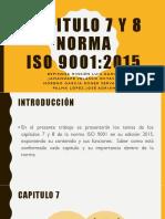 Capitulo 7 y 8 Norma ISO 9001:2015