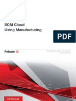 SCM Cloud Using Manufacturing