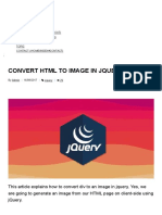 Convert HTML to Image in Jquery
