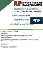 Geoestadistica i Uap Ing. Minas Semana 1