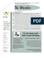April 2005 Warbler Newsletter Broward County Audubon Society