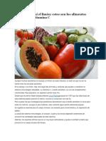 Alimentos Ricos en Vitaminas c
