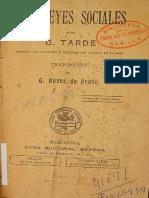 Tarde, Gabriel - Las Leyes Sociales (1898) (1).pdf