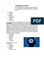 Procesos Psicologicos y Una Parte de La Psicologia en El Entrenamiento
