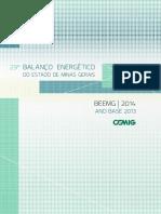 29º Balanço Energético Do Estado de Minas Gerais