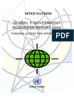 UN Global e-Government Readiness Report 2004 - Towards Access for Opportunity