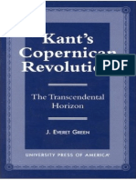 J. Everet Green Kant's Copernican Revolution